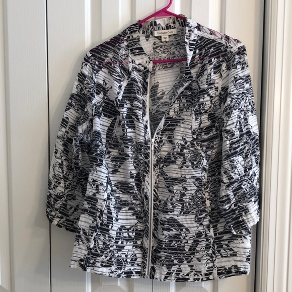 Coldwater Creek Jackets & Blazers - Coldwater creek sz 18 sheer blue and white jacket